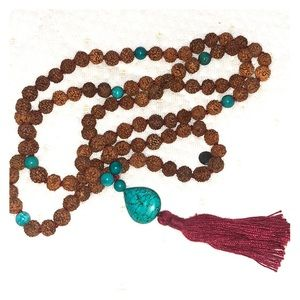 Mala collective prayer beads with real turquoise